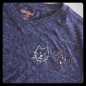 Hand-stitched pet lover Upcycled t-shirt